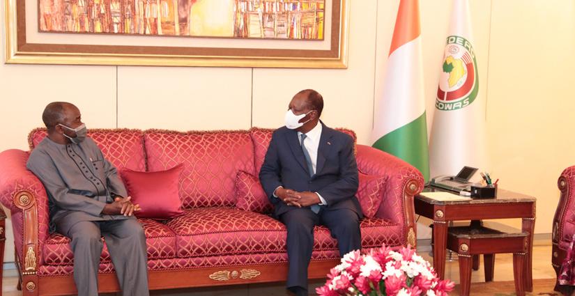 Entretien du Président Alassane OUATTARA avec une délégation ministérielle libérienne 4