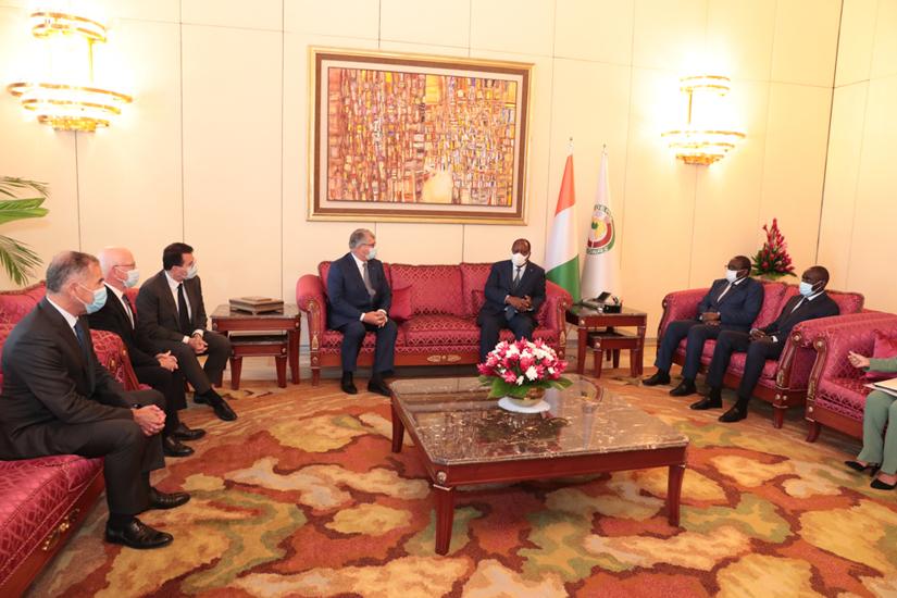 Entretien du Président Alassane OUATTARA avecOlivier BOUYGUES 1