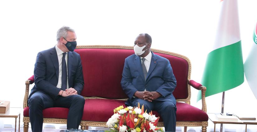 Le Président ivoirien Alassane OUATTARA et Bruno LE MAIRE 4