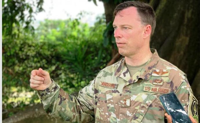 Le général de Brigade Dagvin Anderson, commandant du commandement des opérations spéciales des Etats-Unis en Afrique