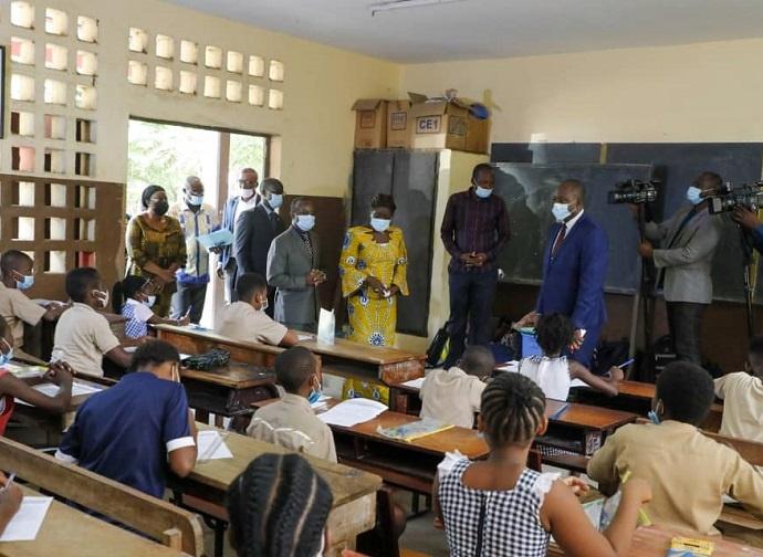 La ministre Mariatou Koné à Cocody et Marcory, le 08 juin 2021