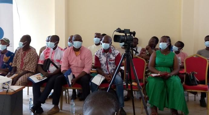 Participants à l'atelier de lutte contre les violences électorales à Béoumi
