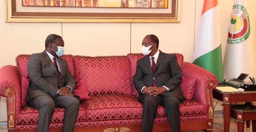 Président Alassane OUATTARA et Abdoulaye DIOP 2