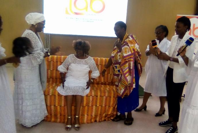 La présidente du laboratoire d'expertises féminine et du leadership, Dame Désirée Djoman investie