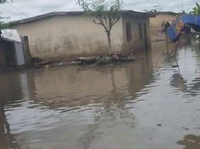Plusieurs domiciles de Zuénoula fortement inondés.