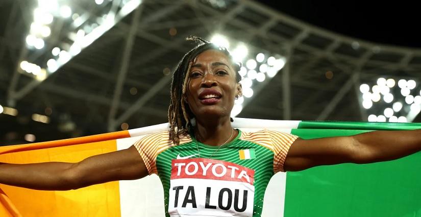 Ta Lou Marie Josée, porte drapreau de la Côte d'Ivoire aux JO Tokyo 2020
