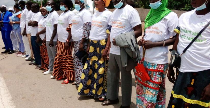 Les membres du comité sous préfectoral pour la nutrition, l'alimentation et le développement de la petite enfance (COSNAPE) de Gbéléban