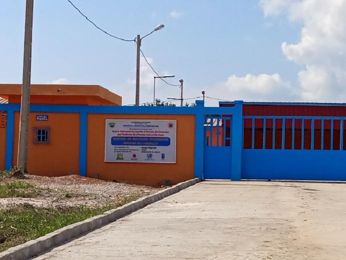 Le centre de secours d'urgence de Guiglo