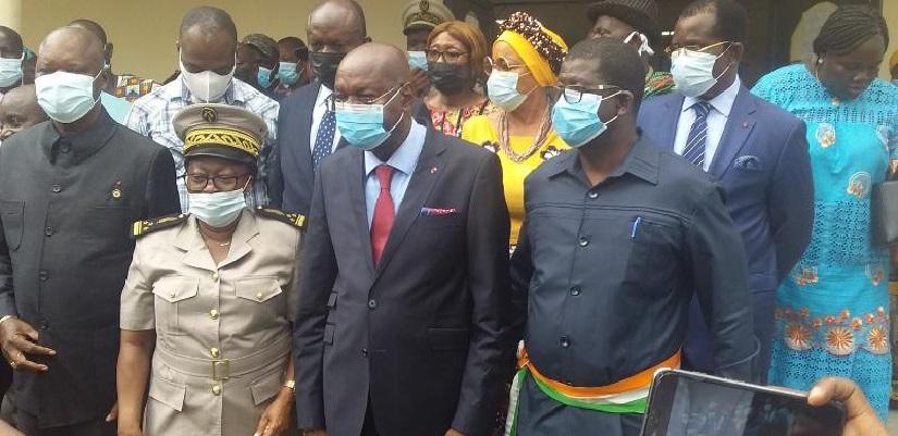e nouveau ministre-gouverneur, Pascal Abinan Kouakou présente le district autonome de la Comoé aux populations d'Adiaké